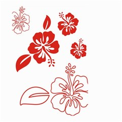 Hawaiian Flower Red Sunflower Small Garden Flag (two Sides) by Mariart