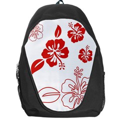 Hawaiian Flower Red Sunflower Backpack Bag