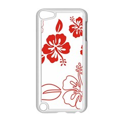 Hawaiian Flower Red Sunflower Apple Ipod Touch 5 Case (white) by Mariart