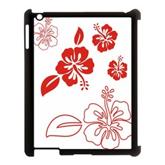 Hawaiian Flower Red Sunflower Apple Ipad 3/4 Case (black) by Mariart