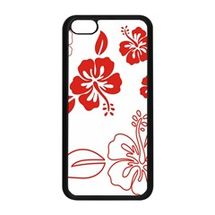 Hawaiian Flower Red Sunflower Apple Iphone 5c Seamless Case (black) by Mariart