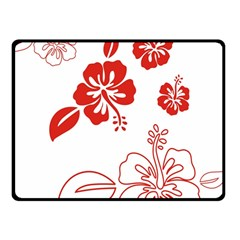 Hawaiian Flower Red Sunflower Double Sided Fleece Blanket (small)  by Mariart
