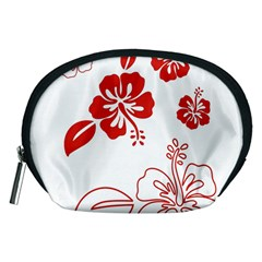 Hawaiian Flower Red Sunflower Accessory Pouches (medium)  by Mariart