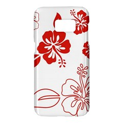 Hawaiian Flower Red Sunflower Samsung Galaxy S7 Hardshell Case  by Mariart
