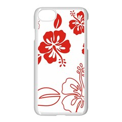Hawaiian Flower Red Sunflower Apple Iphone 7 Seamless Case (white) by Mariart