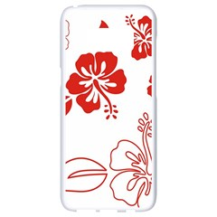 Hawaiian Flower Red Sunflower Samsung Galaxy S8 White Seamless Case by Mariart