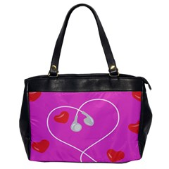 Heart Love Pink Red Office Handbags by Mariart