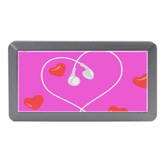 Heart Love Pink Red Memory Card Reader (mini) by Mariart