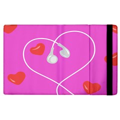 Heart Love Pink Red Apple Ipad 2 Flip Case by Mariart