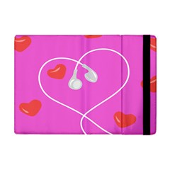 Heart Love Pink Red Apple Ipad Mini Flip Case by Mariart