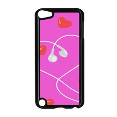 Heart Love Pink Red Apple Ipod Touch 5 Case (black) by Mariart