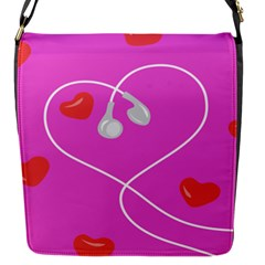 Heart Love Pink Red Flap Messenger Bag (s) by Mariart