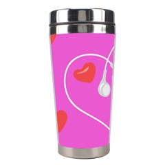 Heart Love Pink Red Stainless Steel Travel Tumblers by Mariart