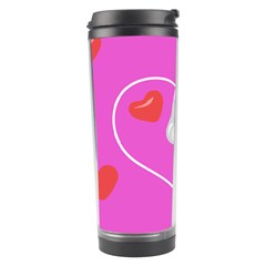 Heart Love Pink Red Travel Tumbler by Mariart