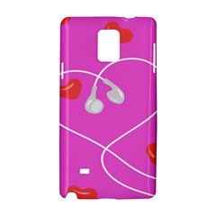 Heart Love Pink Red Samsung Galaxy Note 4 Hardshell Case by Mariart