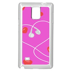 Heart Love Pink Red Samsung Galaxy Note 4 Case (white)
