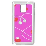 Heart Love Pink Red Samsung Galaxy Note 4 Case (White) Front