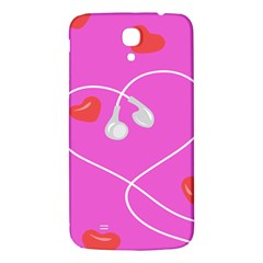 Heart Love Pink Red Samsung Galaxy Mega I9200 Hardshell Back Case by Mariart