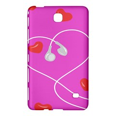 Heart Love Pink Red Samsung Galaxy Tab 4 (8 ) Hardshell Case  by Mariart