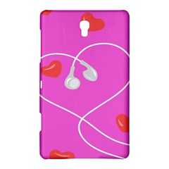 Heart Love Pink Red Samsung Galaxy Tab S (8 4 ) Hardshell Case  by Mariart