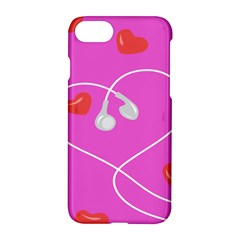 Heart Love Pink Red Apple Iphone 7 Hardshell Case by Mariart