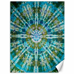 Green Flower Tie Dye Kaleidoscope Opaque Color Canvas 36  X 48