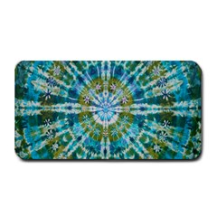 Green Flower Tie Dye Kaleidoscope Opaque Color Medium Bar Mats