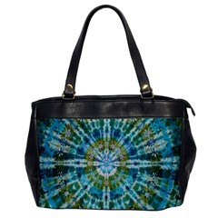 Green Flower Tie Dye Kaleidoscope Opaque Color Office Handbags by Mariart