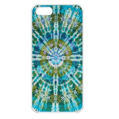 Green Flower Tie Dye Kaleidoscope Opaque Color Apple Iphone 5 Seamless Case (white) by Mariart
