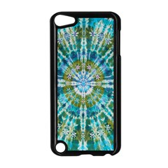Green Flower Tie Dye Kaleidoscope Opaque Color Apple Ipod Touch 5 Case (black) by Mariart