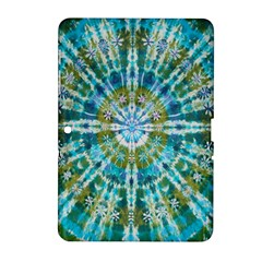 Green Flower Tie Dye Kaleidoscope Opaque Color Samsung Galaxy Tab 2 (10 1 ) P5100 Hardshell Case  by Mariart