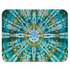 Green Flower Tie Dye Kaleidoscope Opaque Color Double Sided Flano Blanket (medium)  by Mariart