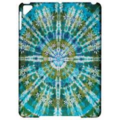 Green Flower Tie Dye Kaleidoscope Opaque Color Apple Ipad Pro 9 7   Hardshell Case