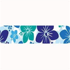 Hibiscus Flowers Green Blue White Hawaiian Large Bar Mats by Mariart