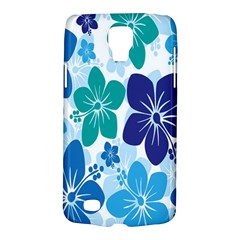 Hibiscus Flowers Green Blue White Hawaiian Galaxy S4 Active by Mariart