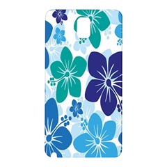 Hibiscus Flowers Green Blue White Hawaiian Samsung Galaxy Note 3 N9005 Hardshell Back Case by Mariart