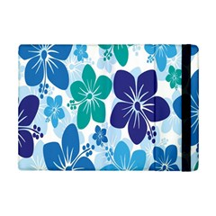 Hibiscus Flowers Green Blue White Hawaiian Ipad Mini 2 Flip Cases by Mariart