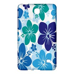 Hibiscus Flowers Green Blue White Hawaiian Samsung Galaxy Tab 4 (8 ) Hardshell Case  by Mariart