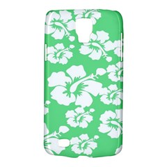 Hibiscus Flowers Green White Hawaiian Galaxy S4 Active by Mariart