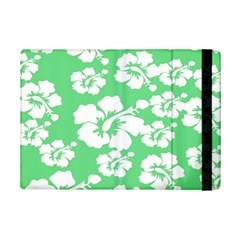 Hibiscus Flowers Green White Hawaiian Ipad Mini 2 Flip Cases by Mariart