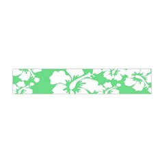 Hibiscus Flowers Green White Hawaiian Flano Scarf (mini) by Mariart