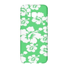 Hibiscus Flowers Green White Hawaiian Samsung Galaxy S8 Hardshell Case  by Mariart