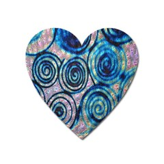 Green Blue Circle Tie Dye Kaleidoscope Opaque Color Heart Magnet by Mariart