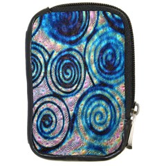 Green Blue Circle Tie Dye Kaleidoscope Opaque Color Compact Camera Cases by Mariart