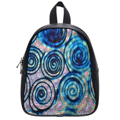 Green Blue Circle Tie Dye Kaleidoscope Opaque Color School Bags (small)  by Mariart