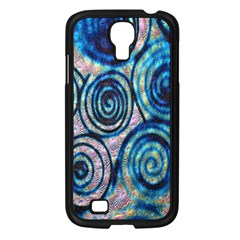 Green Blue Circle Tie Dye Kaleidoscope Opaque Color Samsung Galaxy S4 I9500/ I9505 Case (black) by Mariart
