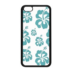 Hibiscus Flowers Green White Hawaiian Blue Apple Iphone 5c Seamless Case (black) by Mariart