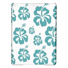 Hibiscus Flowers Green White Hawaiian Blue Ipad Air Hardshell Cases by Mariart