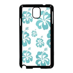 Hibiscus Flowers Green White Hawaiian Blue Samsung Galaxy Note 3 Neo Hardshell Case (black) by Mariart