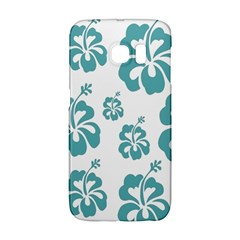 Hibiscus Flowers Green White Hawaiian Blue Galaxy S6 Edge by Mariart